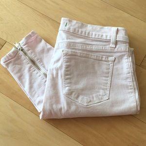 J Brand✨Baby Pink Skinny Zipper Jeans ❤️